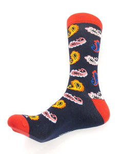 Van Buck Limited Edition Red Paisley Socks