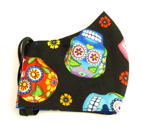 Day Of The Dead Large Skull Cotton Face Covering