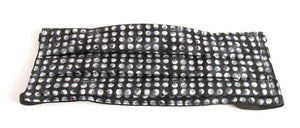 Face Mask Pleated Black & White Polka Dot