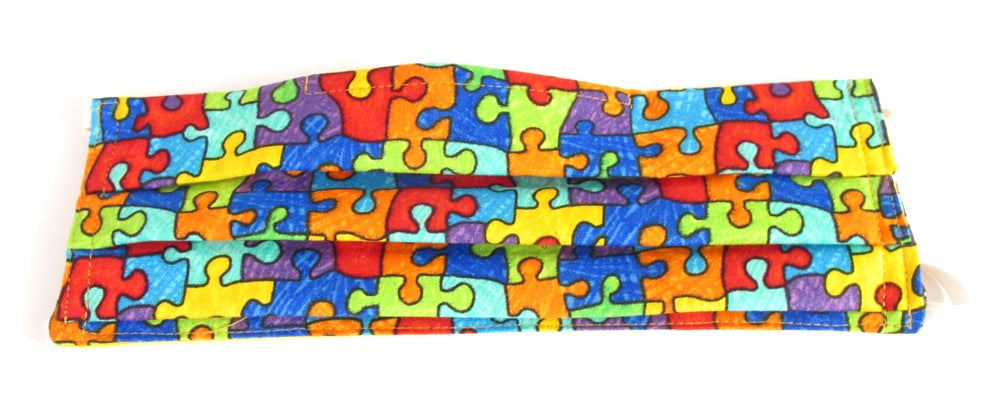 Jigsaw Puzzle Pleated Face Covering