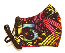 Colourful Music Print Face Covering / Mask