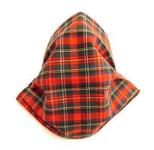 Royal Stewart Tartan Pleated Face Covering
