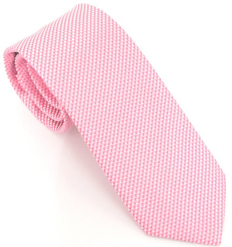Van Buck London Plain Baby Pink Silk Tie