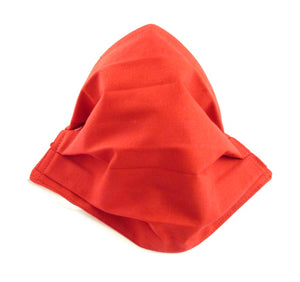 Plain Red Pleated Face Covering