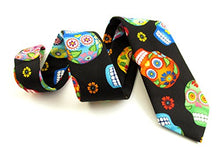 Day of the Dead Skull Cotton Tie by Van Buck