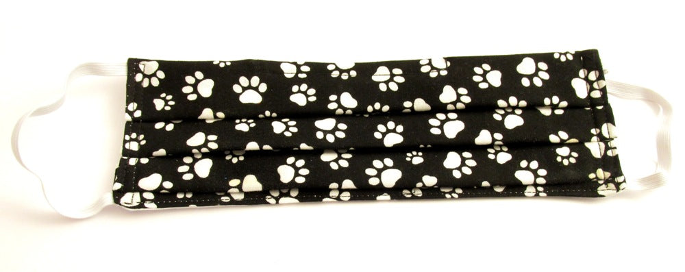 Face Mask Pleated Paw Prints
