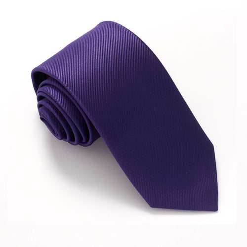 Purple Plain Red Label Silk Tie by Van Buck