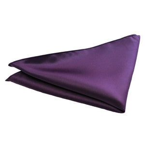 Van Buck Satin Plain Purple Pocket Square