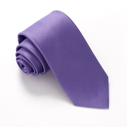 Lilac Plain Red Label Silk Tie by Van Buck