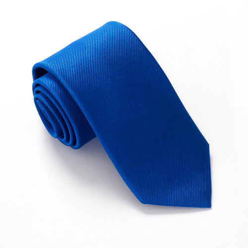 Royal Blue Silk Wedding Tie Red Label by Van Buck