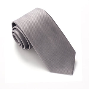 Silver Silk Wedding Tie Red Label by Van Buck