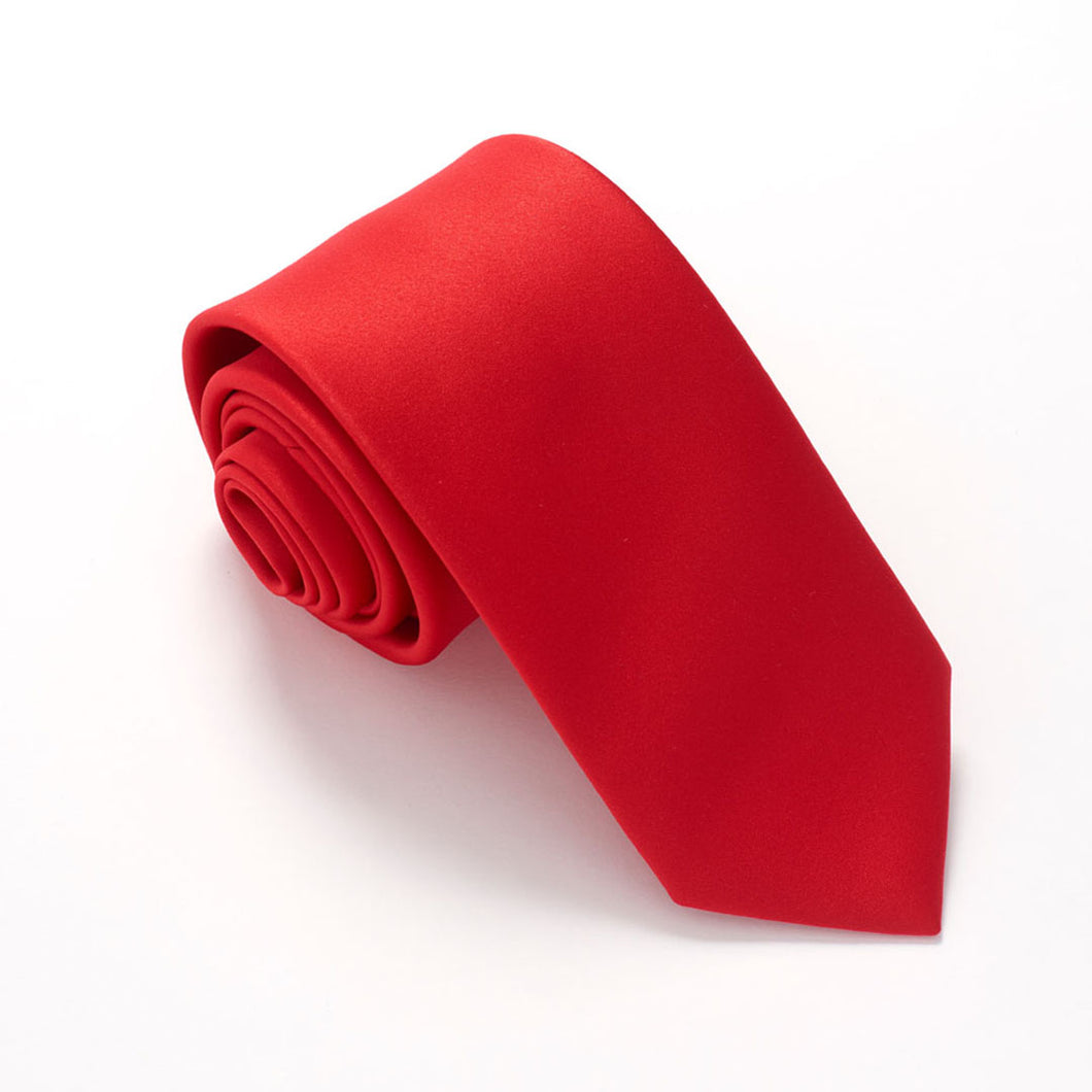 Red Satin Wedding Tie By Van Buck