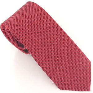 Van Buck London Plain Red Silk Tie