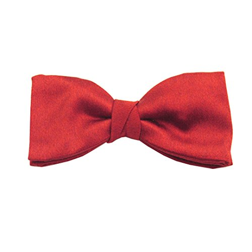 Red Soho Plain Silk Pre-Tied Bow by Van Buck