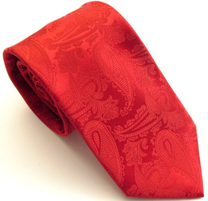 Red Paisley Tie by Van Buck