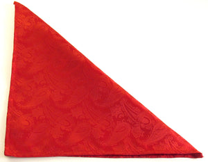 Red Paisley Pocket Square by Van Buck
