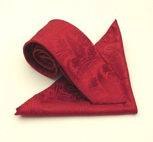 Paisley Red Tie & Pocket Square by Van Buck