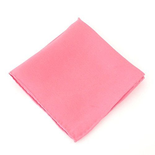 Rose Pink Plain Silk Pocket Square by Van Buck