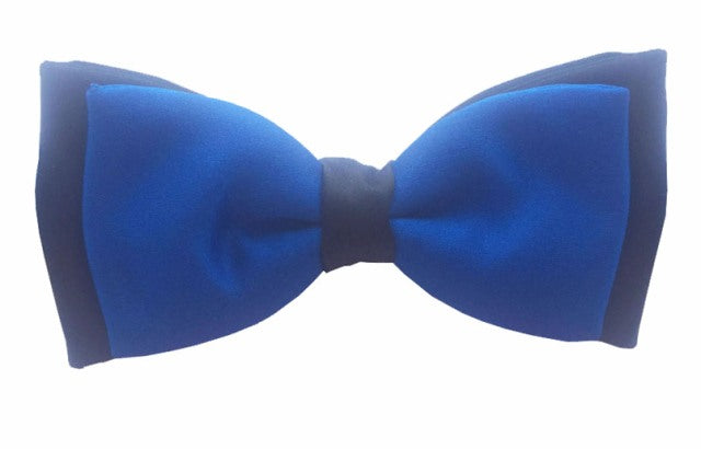 Royal Blue & Navy Satin Two Tone Bow by Van Buck