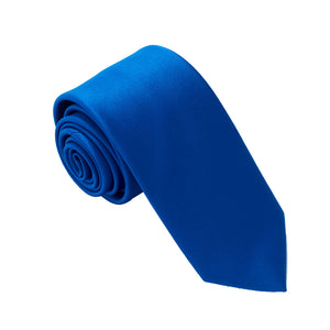 Royal Blue Satin Wedding Tie By Van Buck
