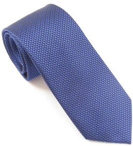 Van Buck London Plain Royal Blue Silk Tie