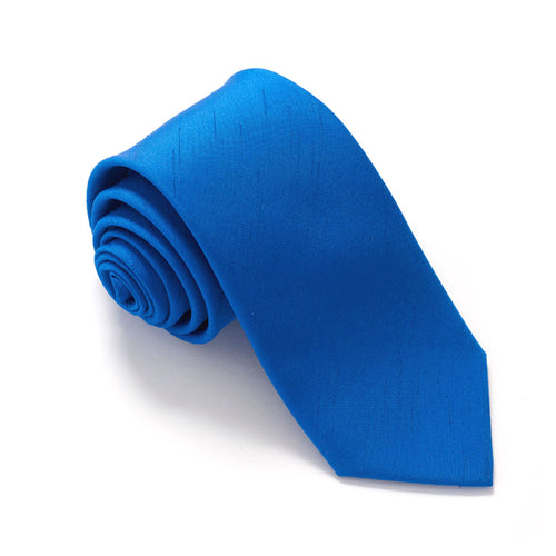Van Buck Slub Plain Royal Blue Tie