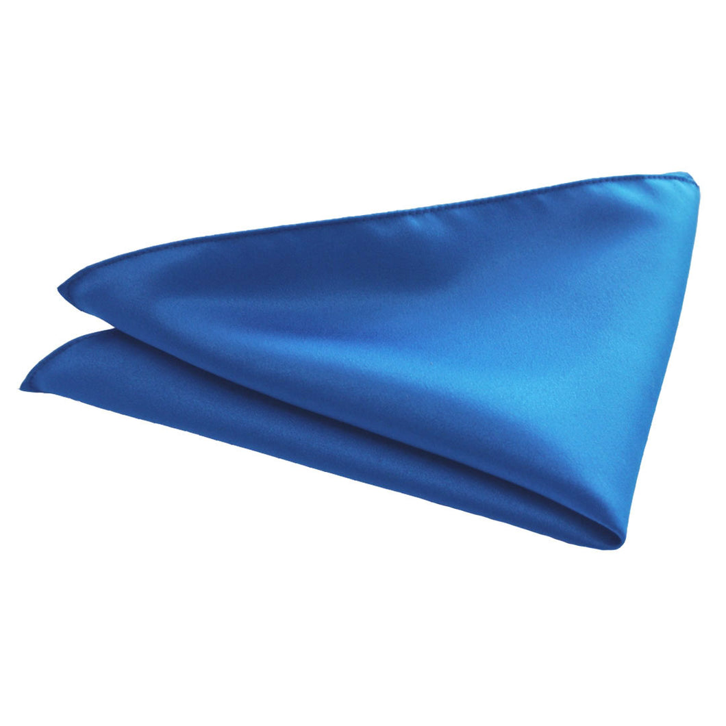 Van Buck Satin Plain Royal Blue Pocket Square