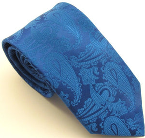 Royal Blue Paisley Wedding Tie by Van Buck