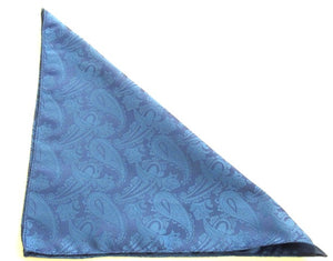 Royal Blue Paisley Pocket Square by Van Buck