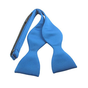 Royal Blue Plain Satin Self-Tied Bow by Van Buck
