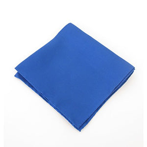 Royal Blue Silk Wedding Pocket Square by Van Buck