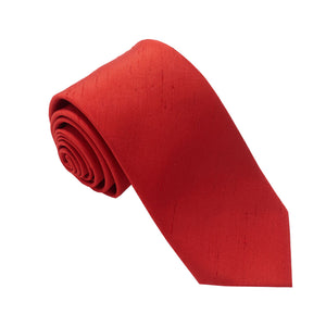 Van Buck Slub Plain Red Tie