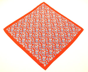 Red Paisley Silk Fancy Pocket Square by Van Buck