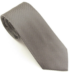 Van Buck London Plain Silver Silk Tie