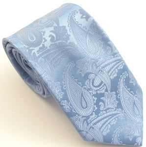 Sky Blue Paisley Wedding Tie by Van Buck