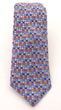 Limited Edition Small Sky Blue Squares Silk Tie by Van Buck