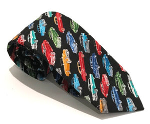 Small Classic Car Cotton Tie by Van Buck