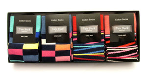 Van Buck 4 Pairs Of Blocks & Stripe Socks Set