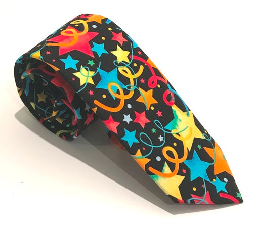 Stars & Ribbons Cotton Tie by Van Buck