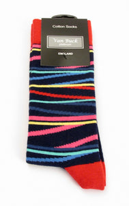 Van Buck Limited Edition Multi-Coloured Stripe Socks