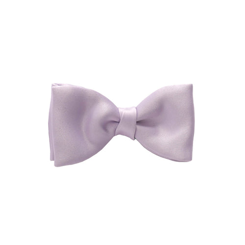 Van Buck Satin Plain Lilac Bow Tie