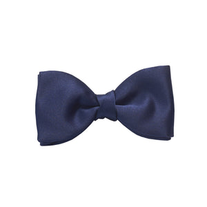 Navy Blue Satin Bow Tie by Van Buck