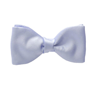 Van Buck Satin Plain Mill Blue Bow Tie