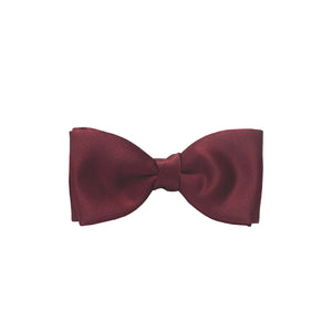 Van Buck Satin Plain Wine Bow Tie