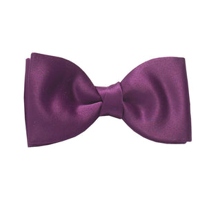 Purple Satin Wedding Bow Tie By Van Buck
