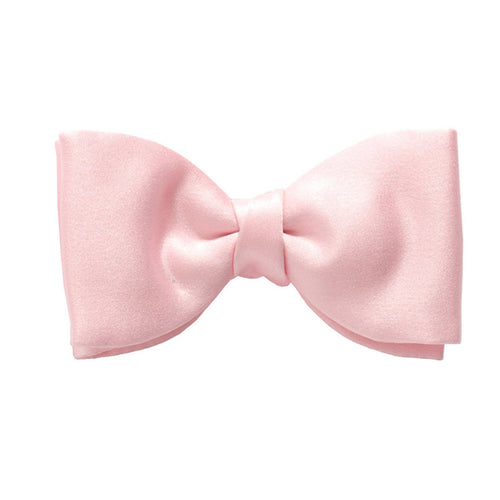 Baby Pink Satin Pre-Tied Bow by Van Buck
