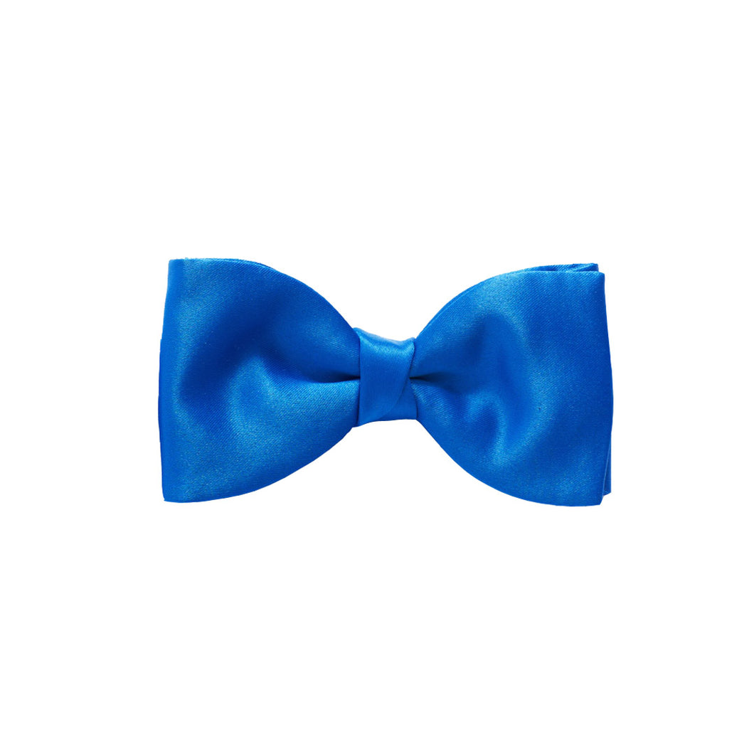 Van Buck Satin Plain Royal Blue Bow Tie