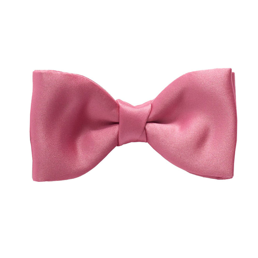 Rose Pink Satin Pre-Tied Bow by Van Buck