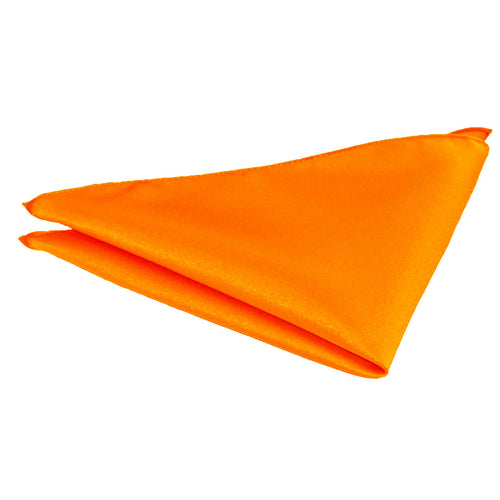 Van Buck Satin Plain Tangerine Pocket Square