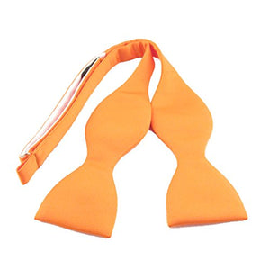 Orange Plain Satin Self-Tied Bow by Van Buck